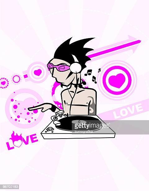 love DJ illustration