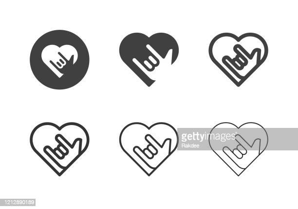 love emotion icons - multi series - i love you stock illustrations