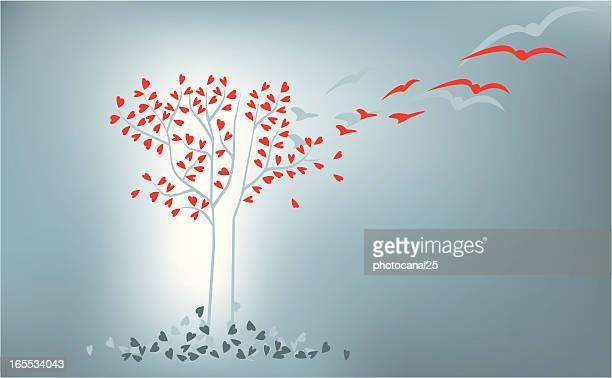 love evolution tree - morphing stock illustrations
