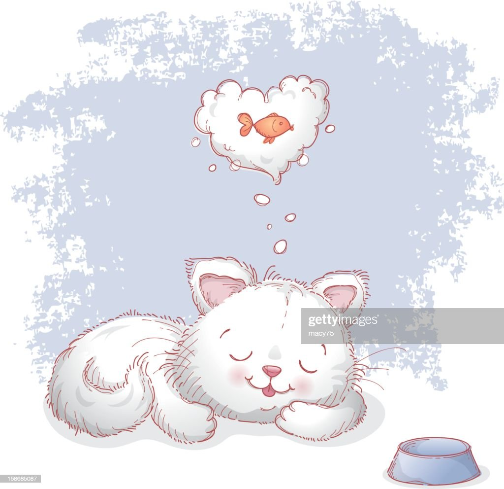 I love fish cat dream vector art getty images for I love the fishes