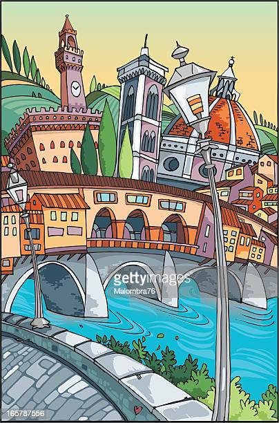 love florence - tuscany stock illustrations, clip art, cartoons, & icons