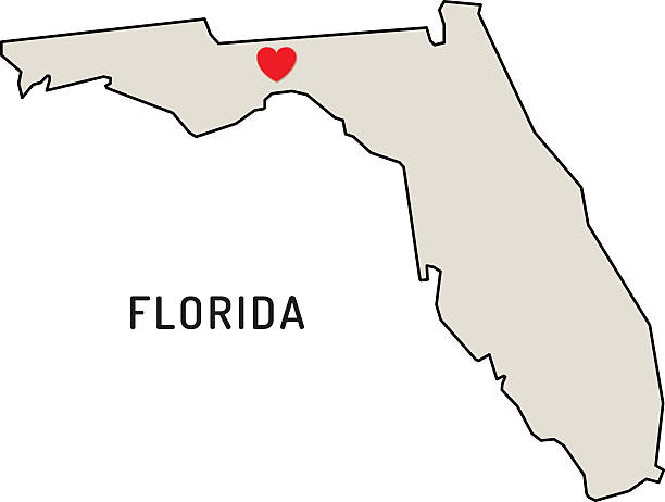 Love Florida State Wall Art