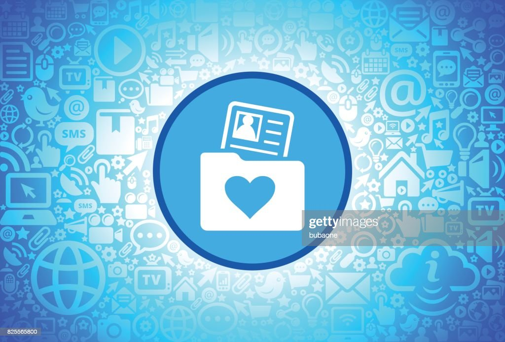 Love Folder And Candidate Profile Icon On Internet Technology