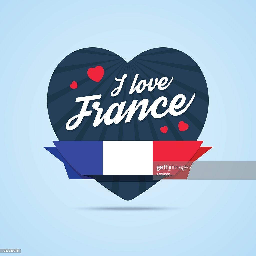 I love France badge.