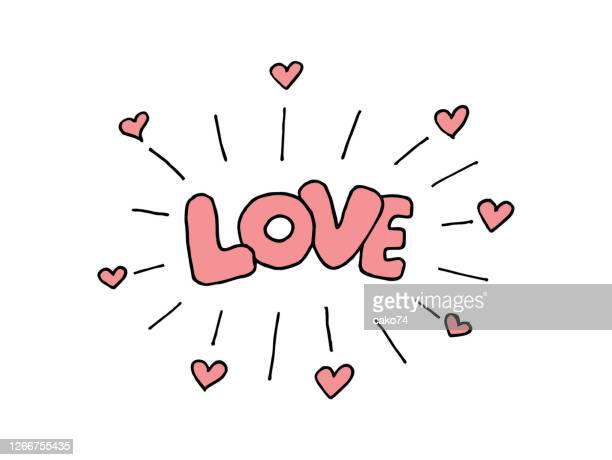 love hand drawn illustration - i love you stock illustrations
