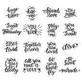 Love hand drawn quotes collection