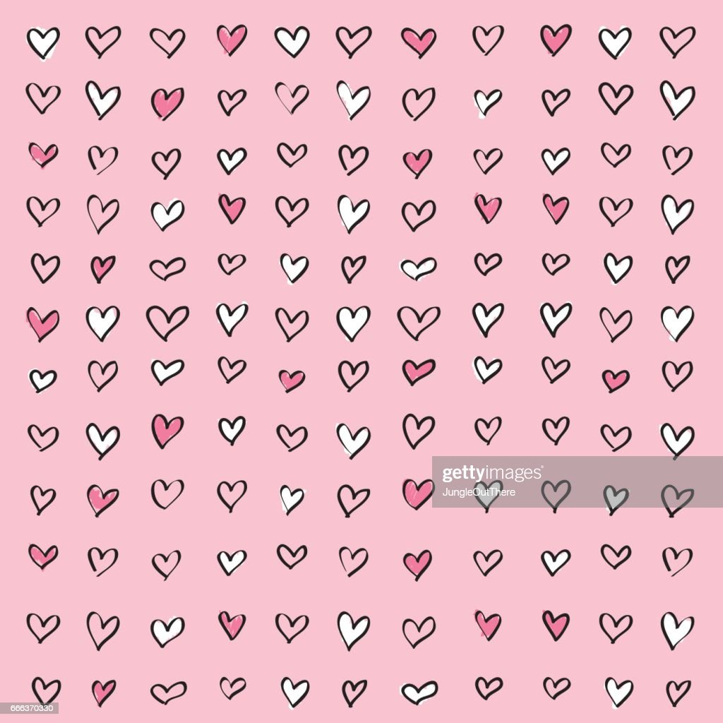 Love Heart Pink Pattern Background