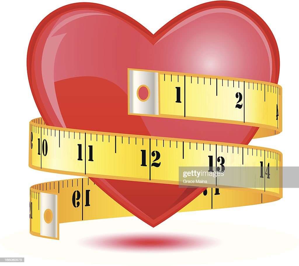 Love heart with a tape measure - VECTOR
