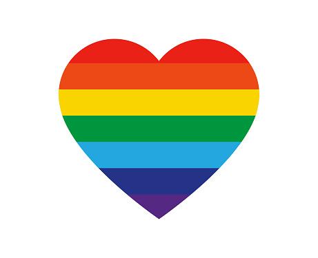 Love Heart With Pride Flag - Vector - gettyimageskorea