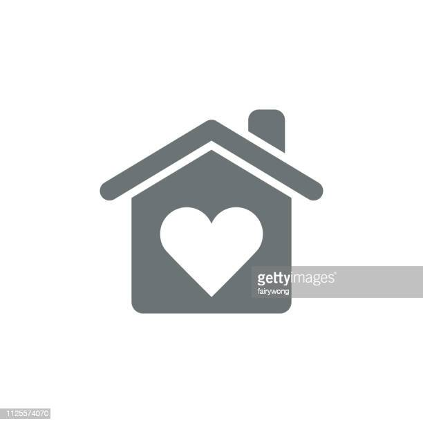 love home icon - house stock illustrations