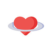 Love icon vector sign and symbol isolated on white background, Love logo concept