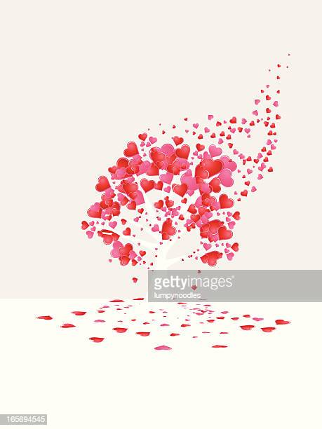 love is all around tree - anniversary card stock illustrations