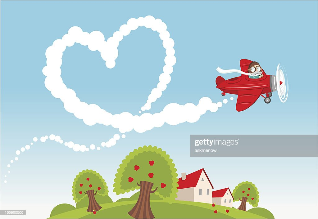 Love is in the air : stock illustration
