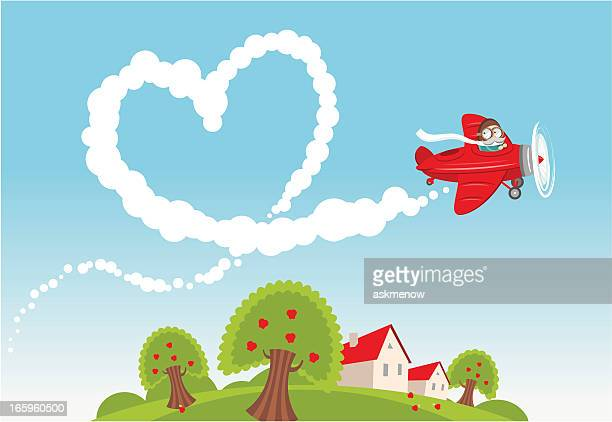 love is in the air - vapor trail stock illustrations, clip art, cartoons, & icons