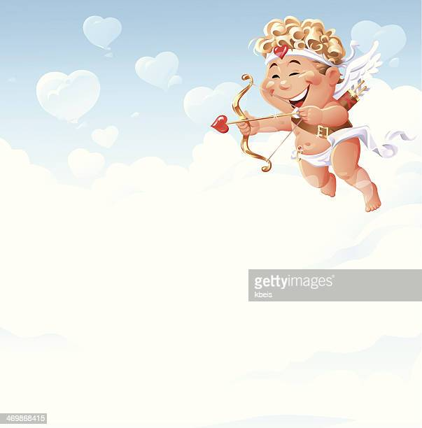 stockillustraties, clipart, cartoons en iconen met love is in the air - cupidon