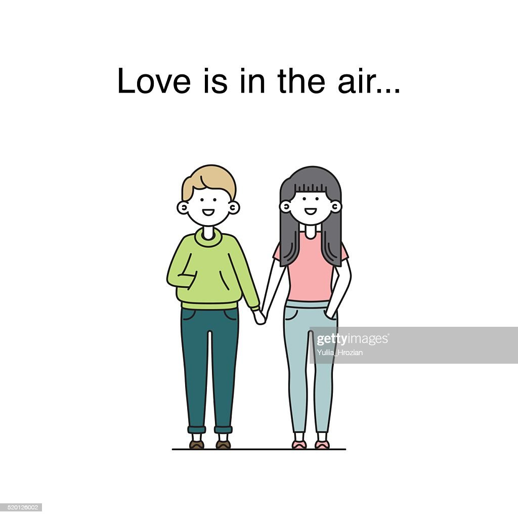 Love is in the air vector illustration