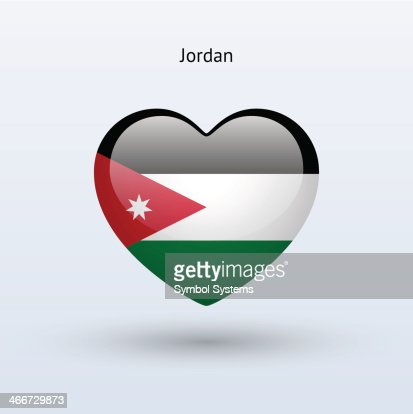 Love Jordan Symbol Heart Flag Icon Vector Art Getty Images