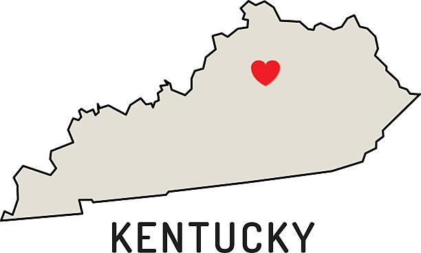 Love Kentucky State Wall Art