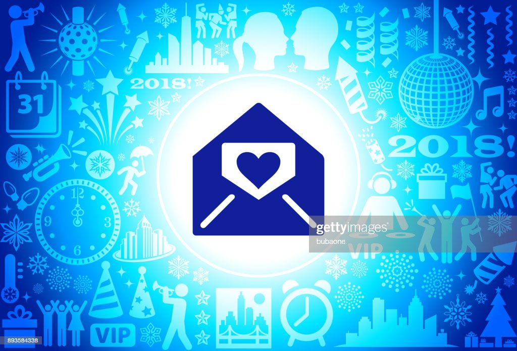 love letter new year holiday background pattern vector art