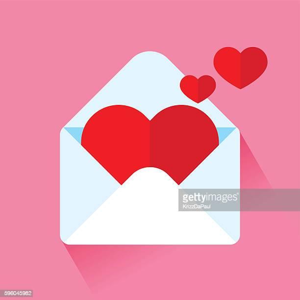 ilustrações, clipart, desenhos animados e ícones de carta de amor  - correio correspondência