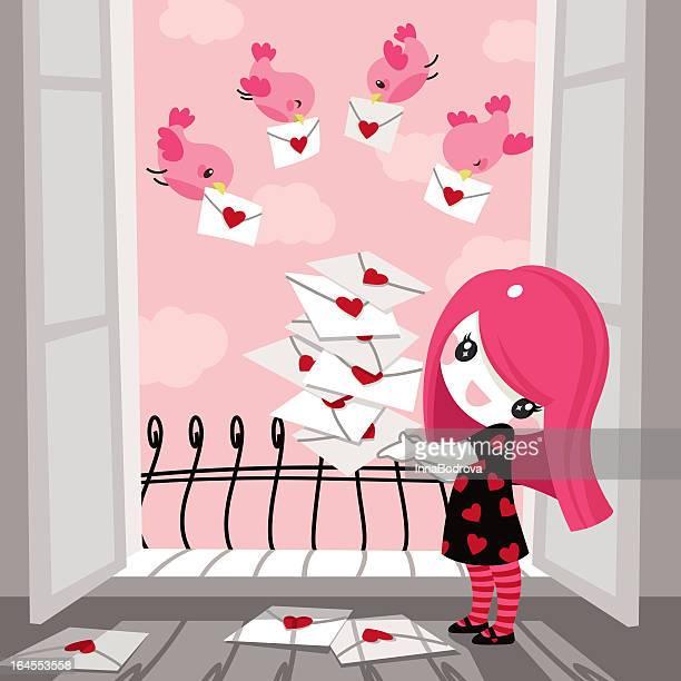 ilustraciones, imágenes clip art, dibujos animados e iconos de stock de cartas de amor. - carta de amor