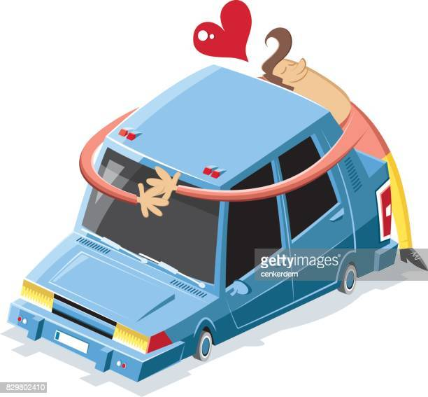 love machine - car ownership stock illustrations, clip art, cartoons, & icons