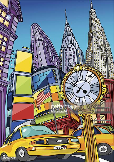 love manhattan - yellow taxi stock illustrations, clip art, cartoons, & icons