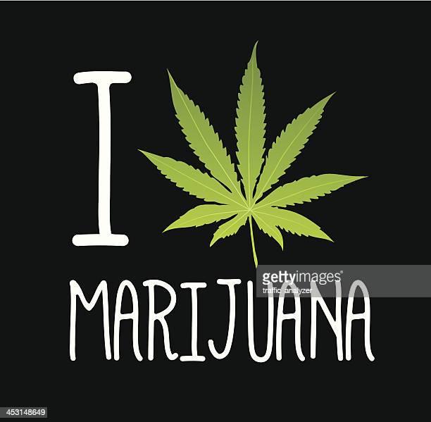 ilustraciones, imágenes clip art, dibujos animados e iconos de stock de me encanta marihuana - fumar marihuana