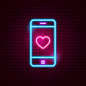 Love Mobile Neon Sign