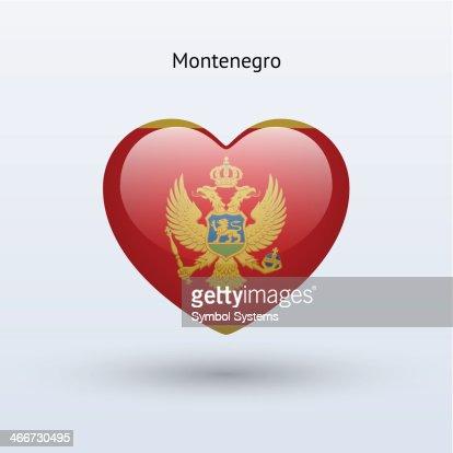 Love Montenegro Symbol Heart Flag Icon Vectorkunst Getty Images