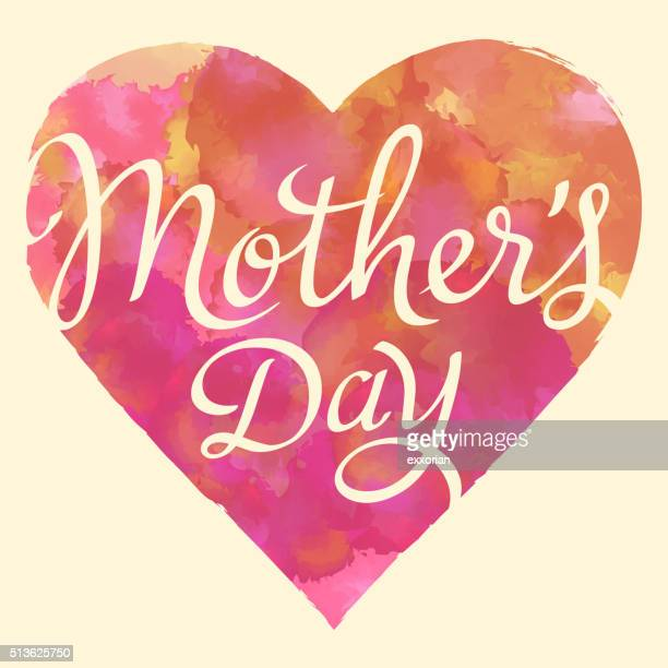 love mother's day - mothers day text art stock illustrations