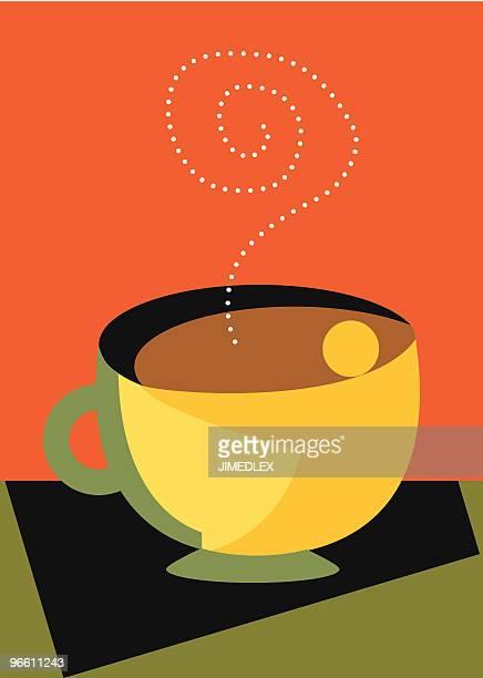 Love My Coffee with steam and a hug modern