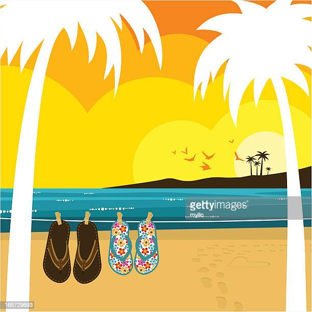 Love on the beach illustration,vector