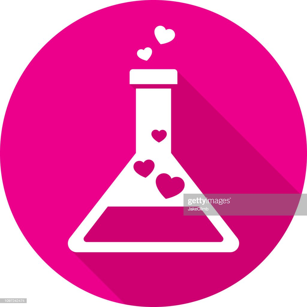 Love Potion Icon Silhouette : Stock Illustration