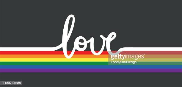 love rainbow - marriage equality stock illustrations, clip art, cartoons, & icons