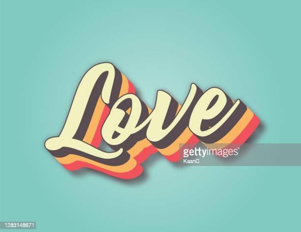 愛。レトロスタイルのレタリングストックイラスト。招待状またはグリーティング カードのストックイラスト - vintage stock点のイラスト素材/クリップアート素材/マンガ素材/アイコン素材