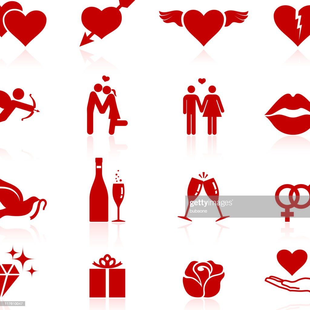 love royalty free vector icon set