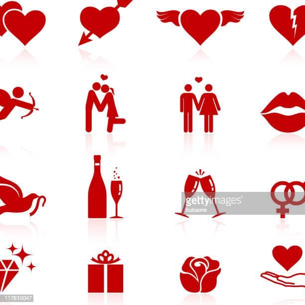 liebe lizenzfreie vektor icon-set - cupidon stock-grafiken, -clipart, -cartoons und -symbole