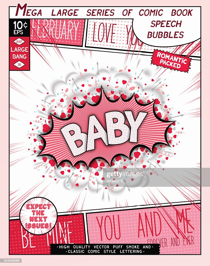 Love series pop art speech bubble