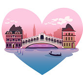Love shaped Venice