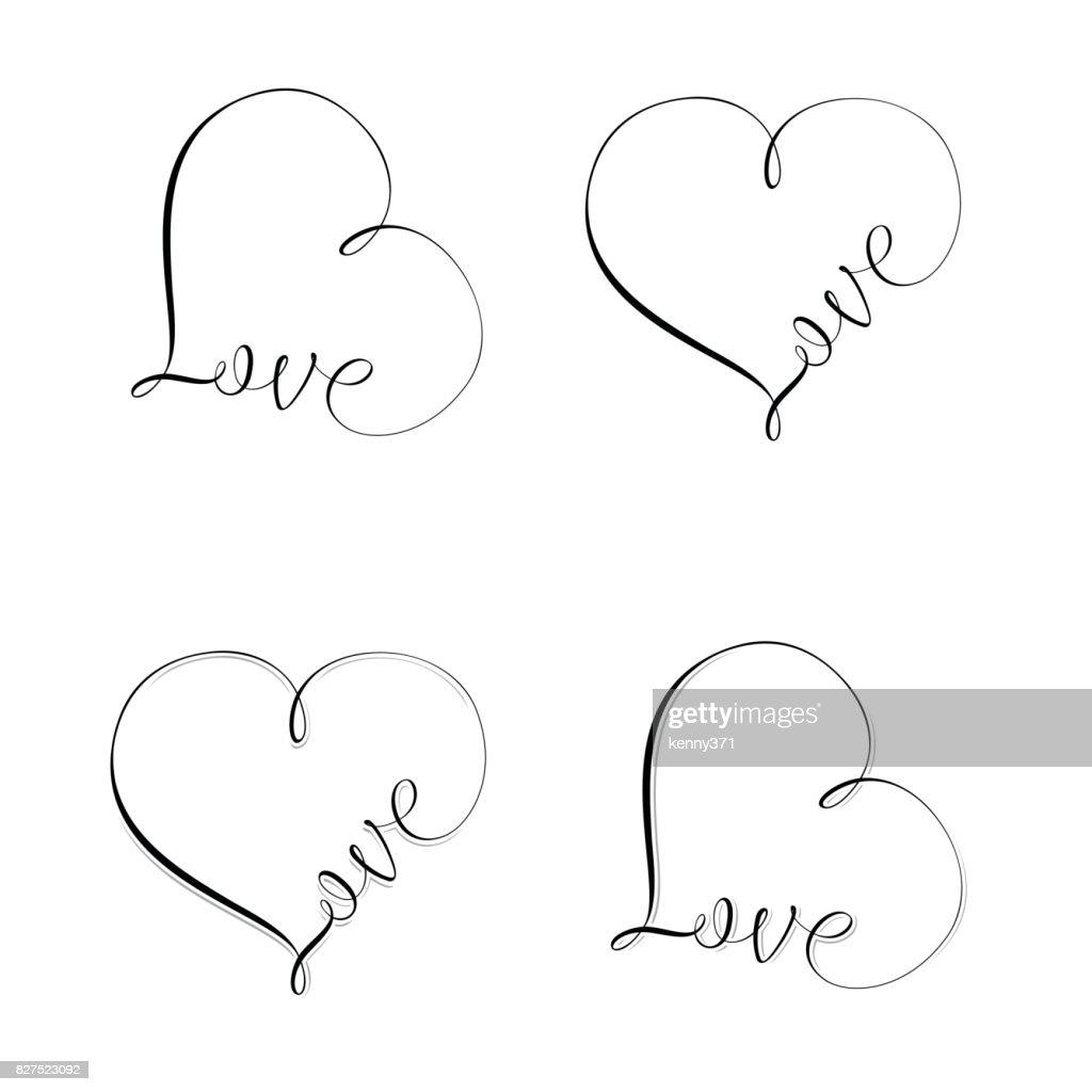Love Sign Set