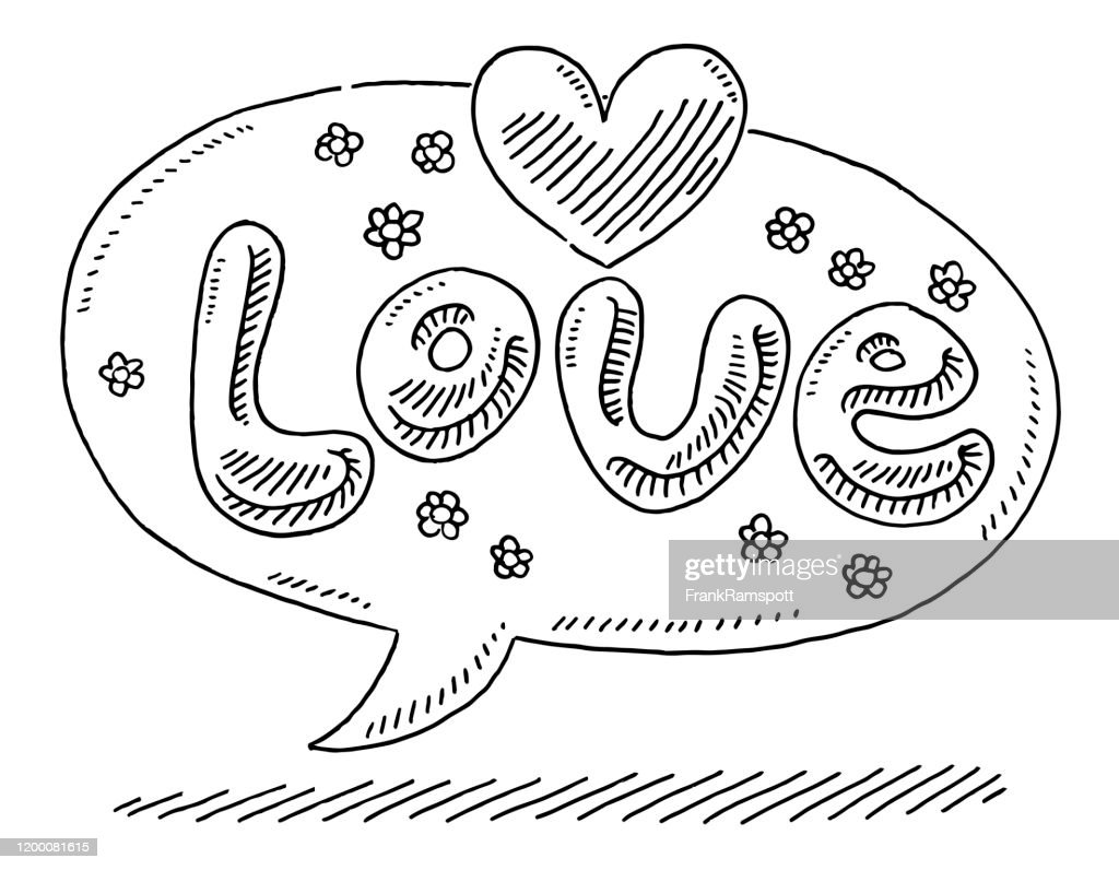 Love Speech Bubble Drawing High Res Vector Graphic Getty Images