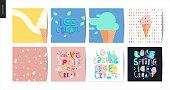 Love spring ice cream lettering