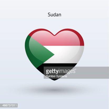 Love Sudan Symbol Heart Flag Icon Vectorkunst Getty Images
