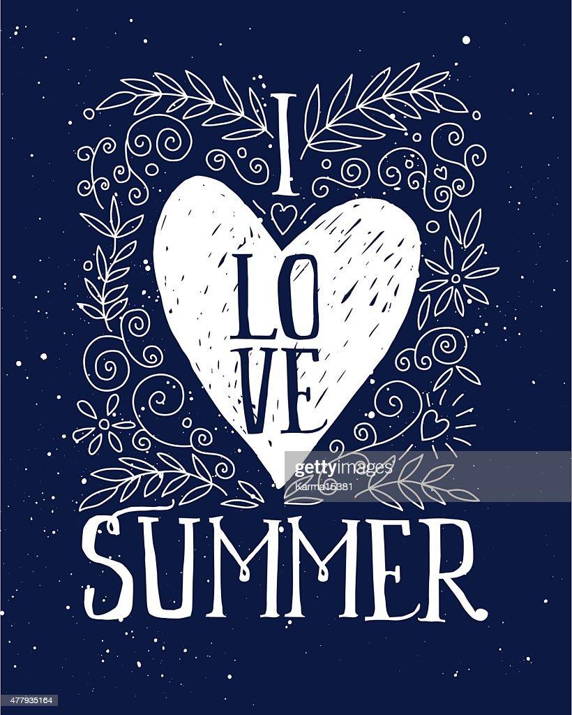I love summer print T-shirt. Ink
