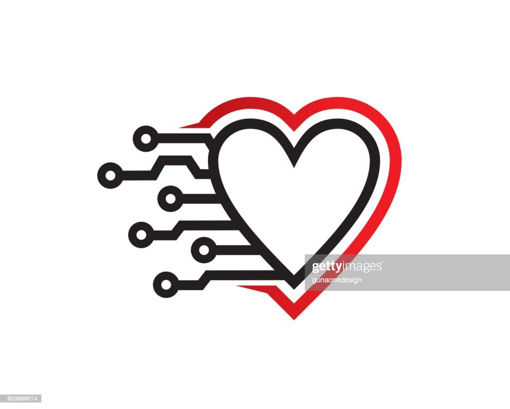 Love Technology Symbol Template Design Vector, Emblem, Design Concept, Creative Symbol, Icon