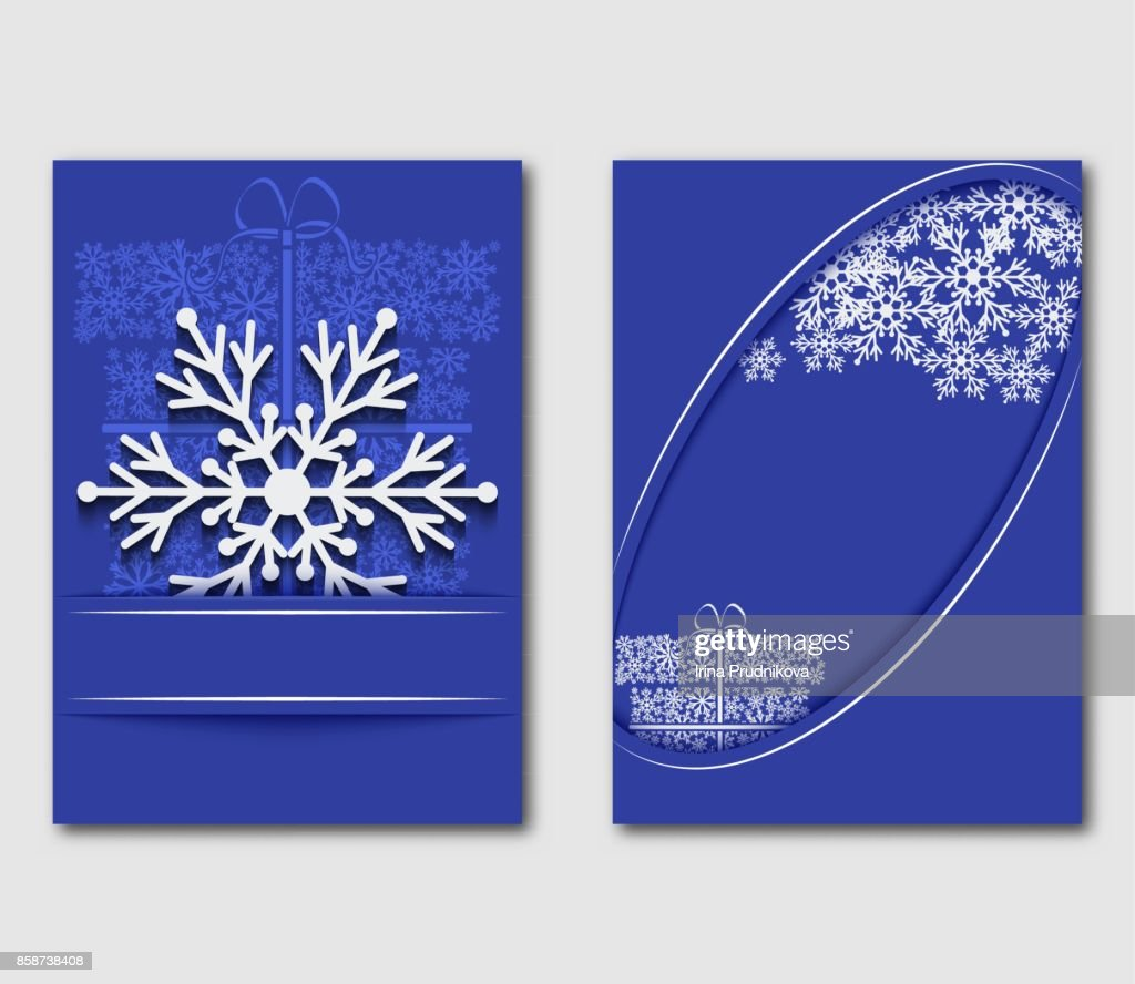 I Love The Winter Greeting Card With Snowflakes And Gift Box Can Be