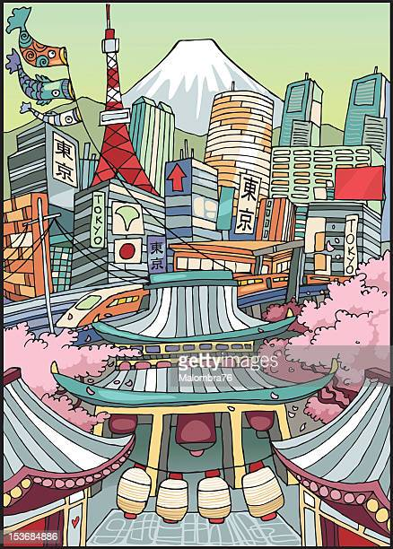 love tokyo - television aerial stock illustrations, clip art, cartoons, & icons