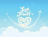 Love Travel conceptual poster.
