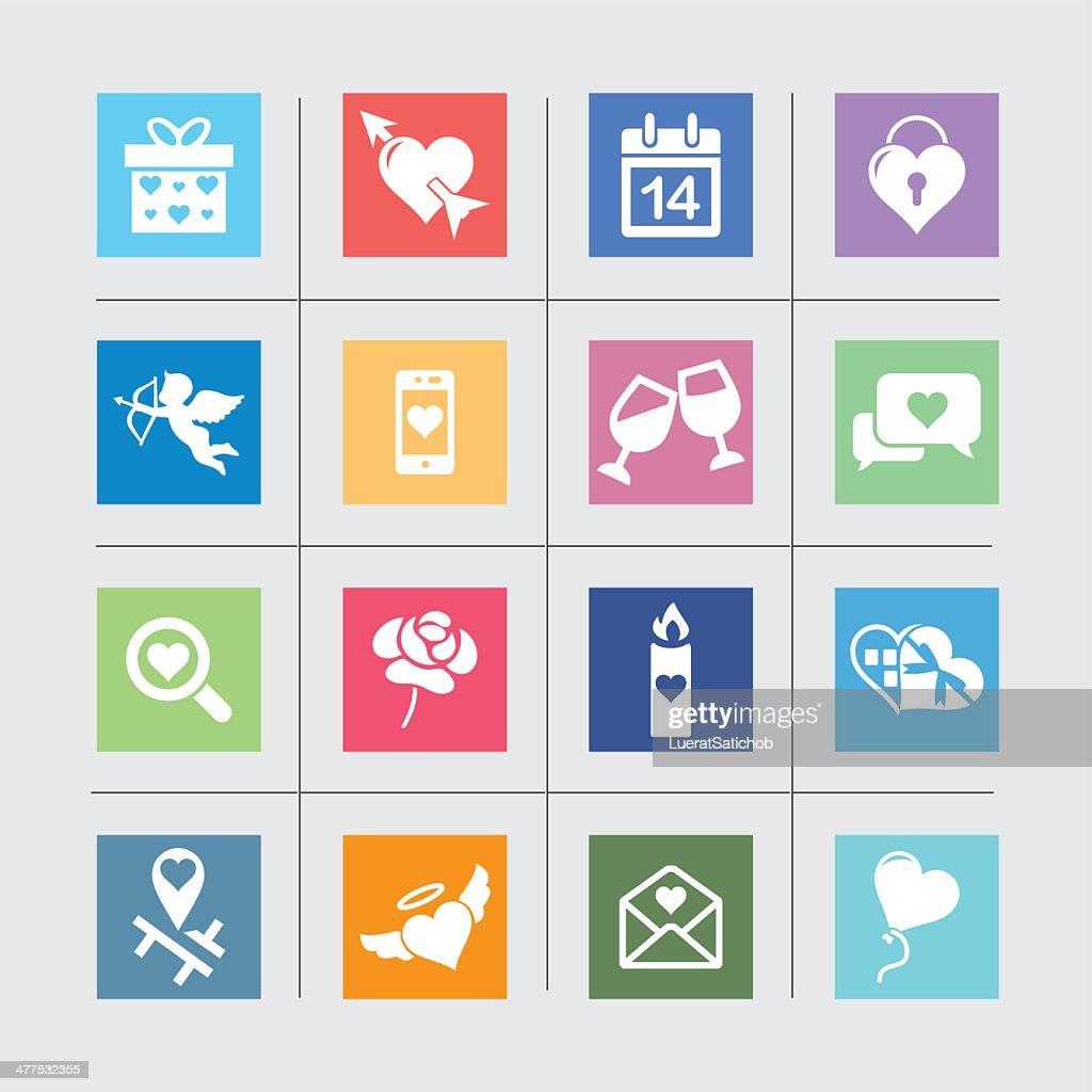 Love Valentine Color Harmony icons